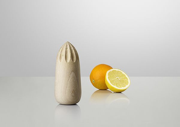 """KIBISI ON THE DESIGN """"The Turn Around juicer tells a story of craftsmanship, materials and processes used for centuries. So why hide your juicer in the drawer when the shape allows it to stand on its own?"""""""