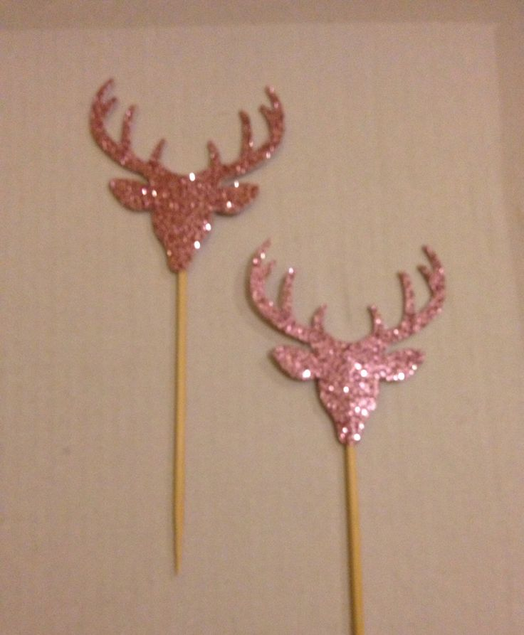 A personal favourite from my Etsy shop https://www.etsy.com/au/listing/241668061/set-of-10-pink-glitter-deer-cupcake
