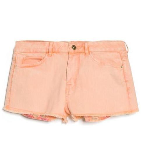 House of Fraser - Orange Denim Shorts