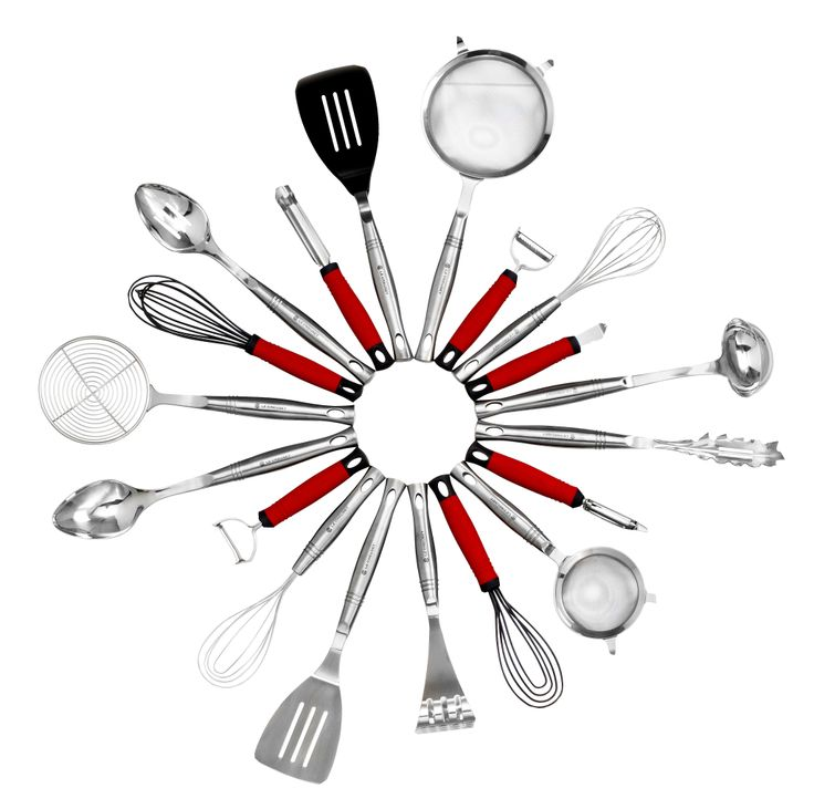 Le Creuset Stainless steel and Silicone Revolution Tools