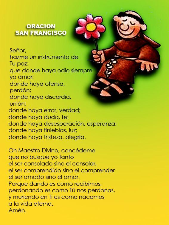 Rincón de la Oración: Estampas Oraciones de San Francisco de Asís