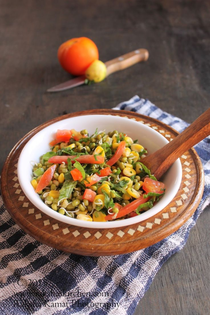 Sprouts Salad | Sprouted Moong Salad
