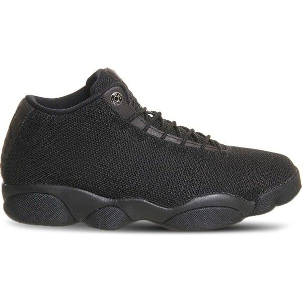 Nike Jordan horizon low mesh trainers ($135) ❤ liked on Polyvore featuring men's fashion, men's shoes, men's sneakers, black mono, nike mens shoes, men's low top shoes, mens black shoes, mens low top sneakers and mens woven shoes