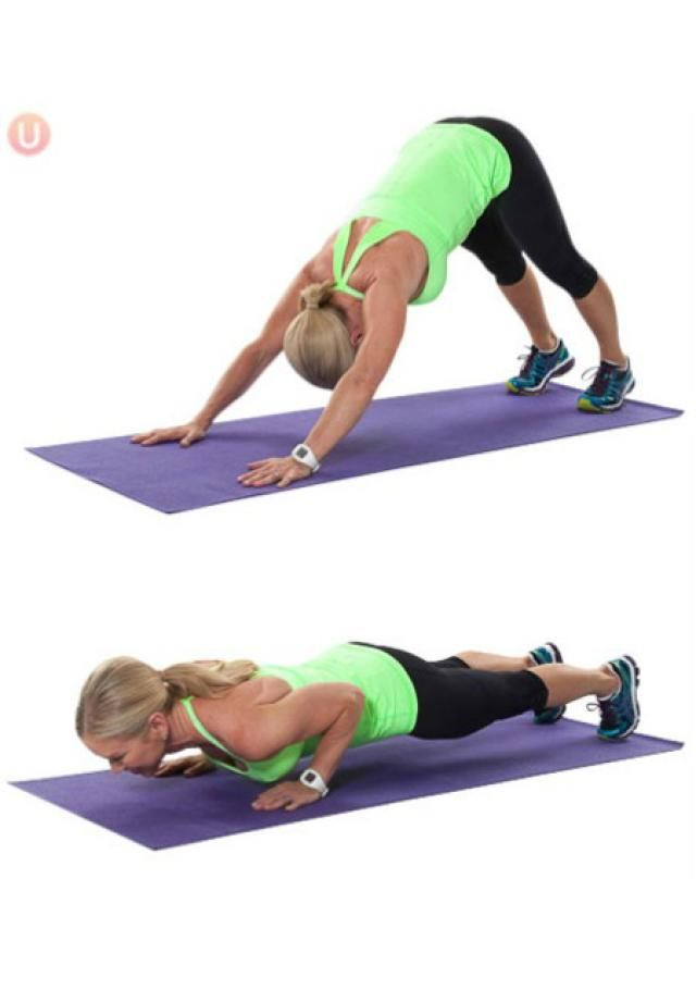 Top Moves For Tight and Toned Arms: Downward dog push-up : #fitness #exercise #abs #slim #fit #beauty #health #workout #motivation #cardio #belly #woman_fitness #ab_workouts #ab_inspiration #kittlebell
