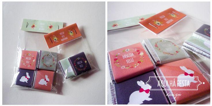 Bags with mini-chocolates customized