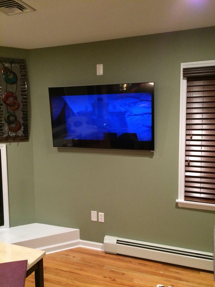 55 Quot Vizio Smart Tv On A Tilt Mount In Wall Hidden Wires