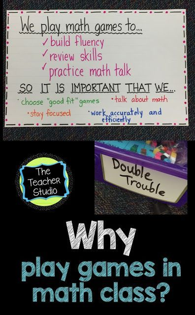 Playing math games...they aren't just for fun (even though they ARE!)  Today's blog post is all about WHY we play games...and how I worked to make sure my students understood the reasons!