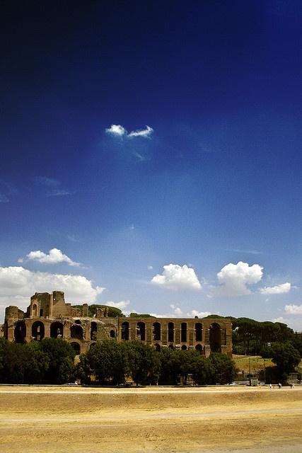 Baths of Maxentius.  Palatin Hill, Rome
