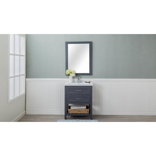 """This Caudillo 30"""" Single Bathroom Vanity Set simplistic yet innovative. Built to furniture-grade construction standards. There is no particle board used in the construction. The base is designed to sit flush against the wall. Adjustable levelers included on the legs."""