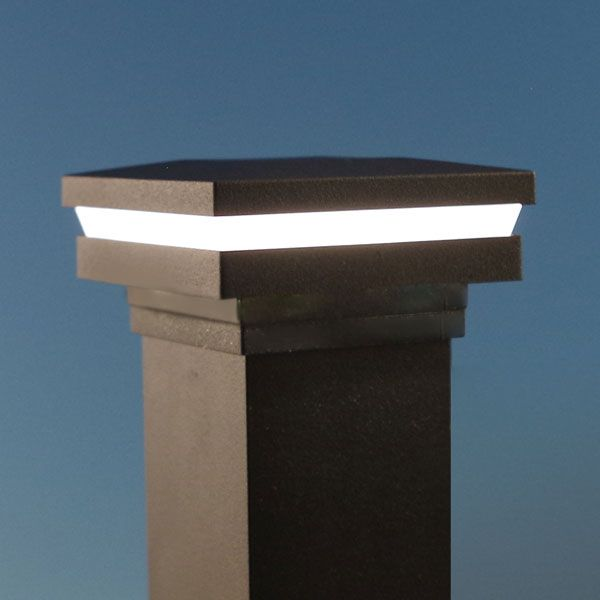Ornamental Halo Low Voltage Led Post Cap Light By Lmt Mercer Post Cap Deck Lighting Led Deck Lighting