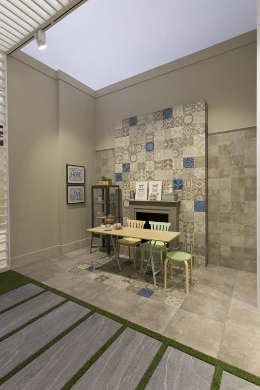 Memory of cerim thanks to coverings2014 - Wall covering ideas for living room ...