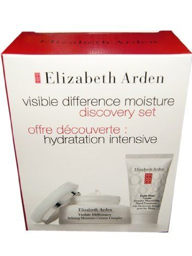 Elizabeth Arden Visible Difference Moisture Discovery Gift Set. (Elizabeth Arden Visible Difference Moisture Cream 2.5oz.+eight Hour Cream Intensive Moisturizing Treatment , NET Wt. 1oz. 28g 30ml. ) by Elizabeth Arden. $35.99. Elizabeth Arden Visible Difference Moisture Cream 2.5OZ.. Eight Hour Cream Intensive Moisturizing Treatment. NET WT. 1OZ. 28g 30ML.. Elizabeth Arden Visible Difference Moisture Cream 2.5OZ.+Eight Hour Cream Intensive Moisturizing Treatment , NET WT. 1OZ. 2...