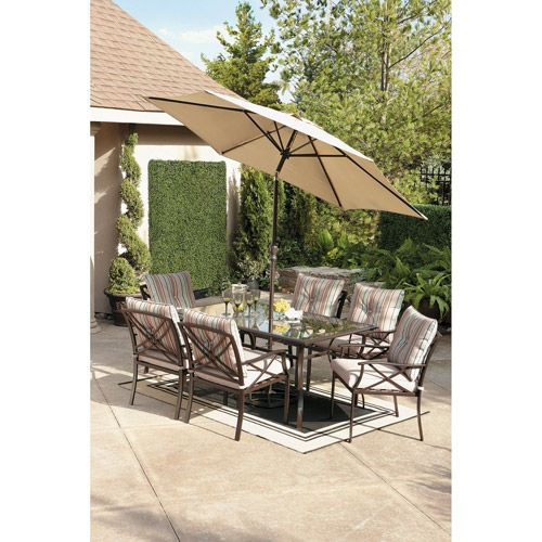 redford 7piece patio dining set seats 6 patio furniture walmart