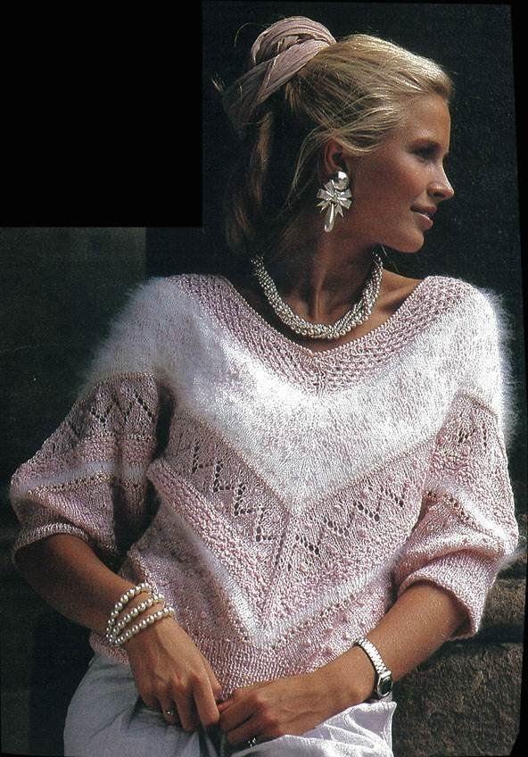 Красивый свитер из разной пряжи спицами | Вязальный роман | Яндекс Дзен