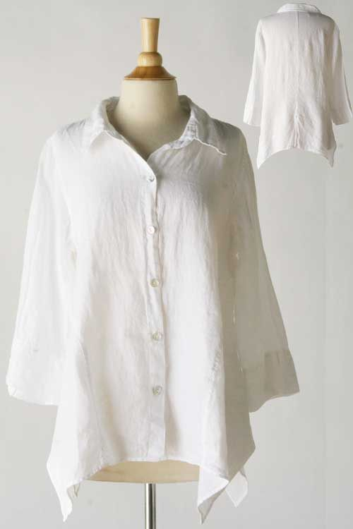 Product Image: Asymmetry Shirt Hanky Linen in Cut Loose Clothing: Cut Loose Spring 2014