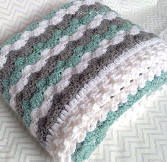 Crochet Baby Blanket Baby Boy Blanket Baby Girl Blanket