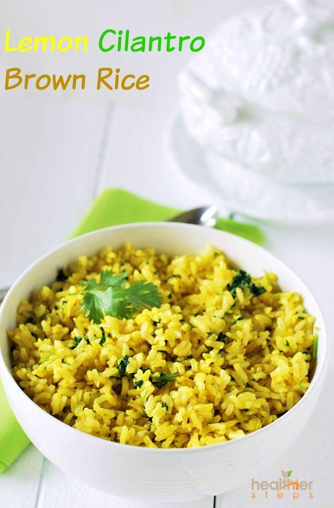 Lemon Cilantro Brown Rice (Vegan) | Gluten Free and Vegan Recipes by Michelle Blackwood