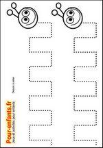 Jeux à imprimer maternelle jeu dessins A relier enfants de maternelle imprimer gratuitement dessin de chenilles gratuit