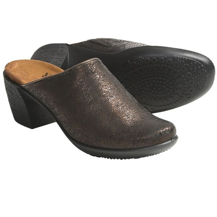 Romika Luna 01 Clogs - Leather (For Women) in Bronze