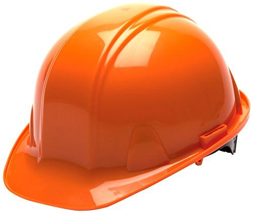 c026e8ccd7d Pyramex Orange Cap Style 4 Point Snap Lock Suspension Hard Hat. Shell  developed from high thickness polyethylene materials Low profile design  Rain trough on ...