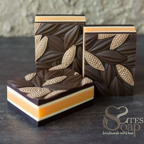 Cold process soap with  cocoa butter, by steso