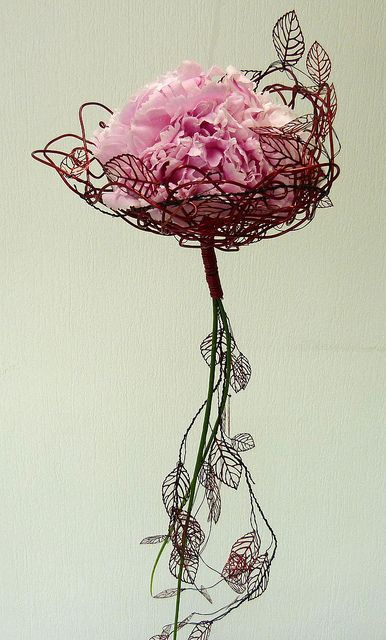 Peonies by Rvformacio: Easier version, Use tall thin vase and have leaf tendrils wind around it