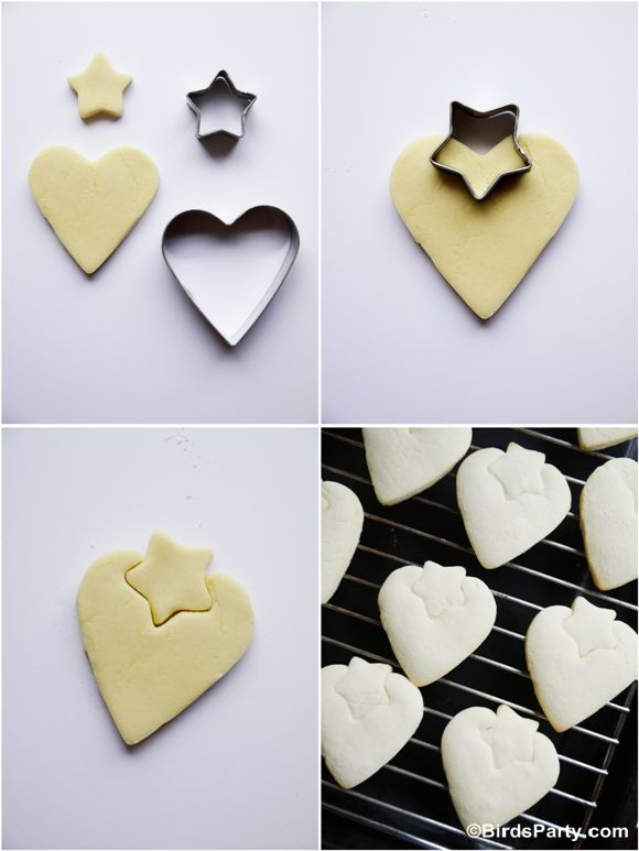 DIY Strawberry Shaped Decorated Cookies