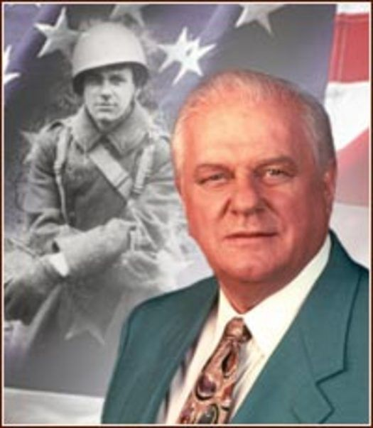 "Actor/Bad-Ass: Charles Durning was in the first wave on D-Day with the 1st Div. He was the only member of his unit to survive. He took out several German machine guns and was wounded. Later, he was bayoneted 8 times in hand-to-hand combat. At The Bulge he survived The Malmedy Massacre. He refused to discuss his service for which he was awarded the Silver Star and three Purple Hearts. ""Too many bad memories,"" he told an interviewer. ""I don't want you to see me crying.""  A true American hero…"