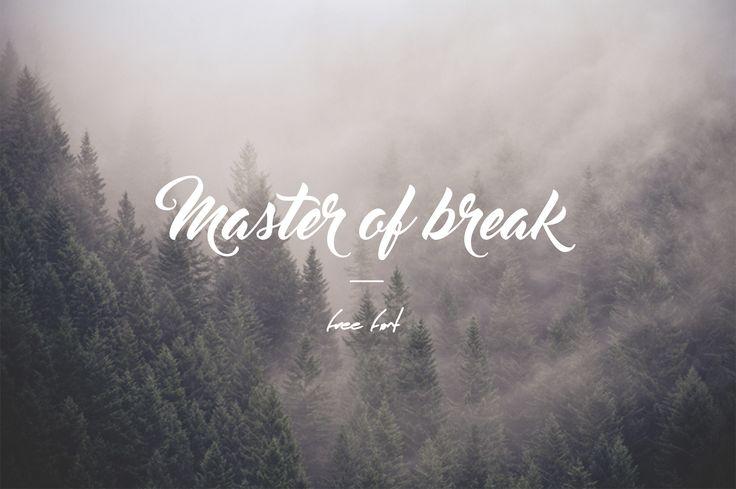 Download Master of Break free font.