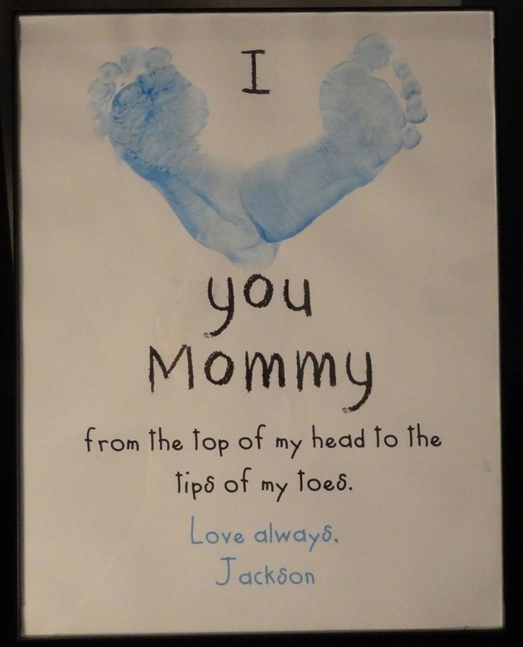 Footprint Craft for Mother's Day, Father's Day, Valentine's Day, Teacher Appreciation ...