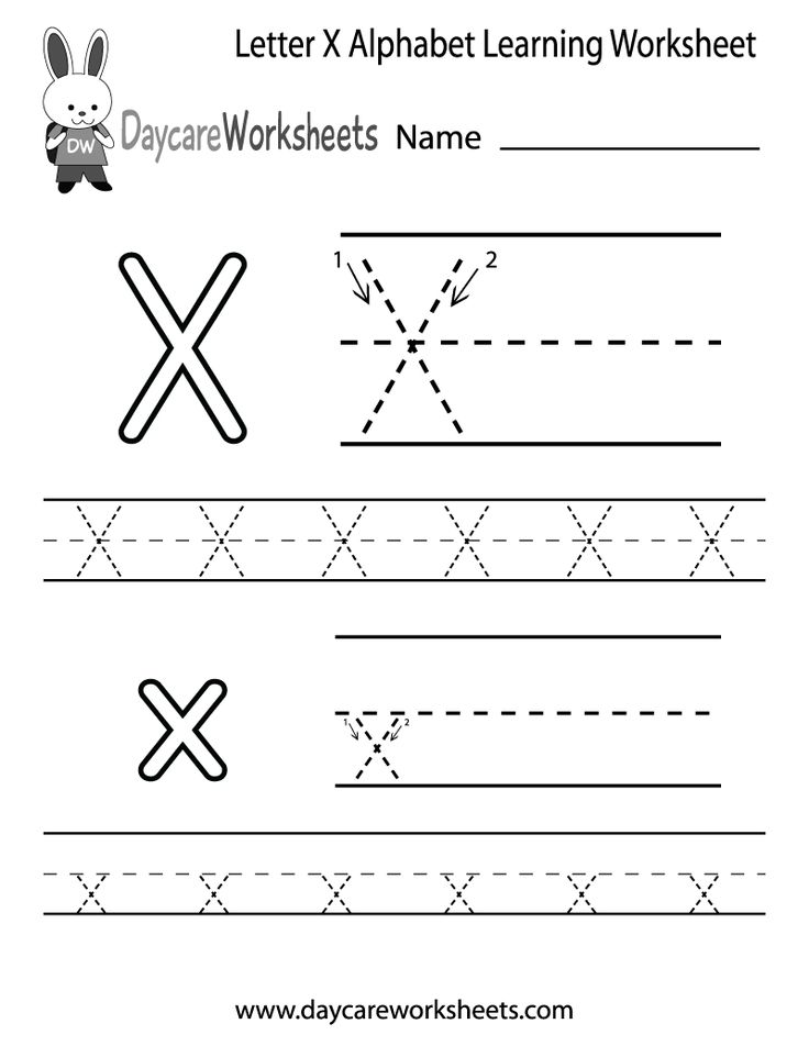 Preschoolers Can Color In The Letter X And Then Trace It Following Stroke Order With