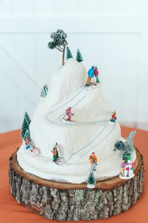 Apple Tree Cake Co. Richmond, Va. Ski Mountain Cake Art.
