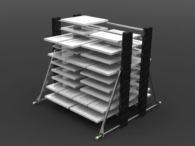 Erecta Rack   Trim, Door And Cabinet Door Drying Rack System