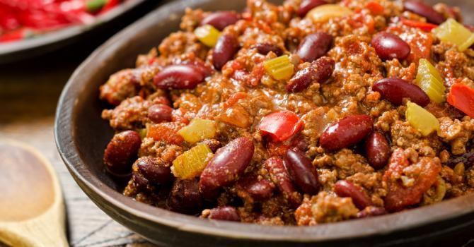 Recette de Chili con carne express. Facile et rapide à réaliser, goûteuse et diététique. Ingrédients, préparation et recettes associées.