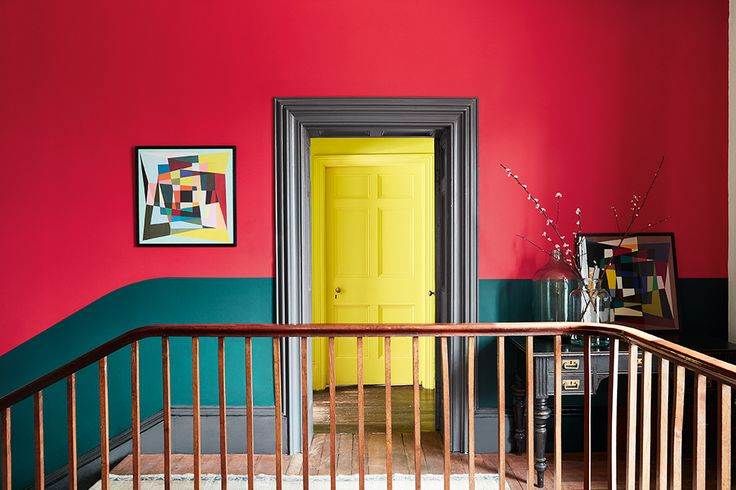 Kleur corridor maison design obas