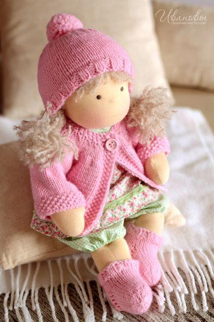 Waldorf zabawki handmade. Fair Masters - ręcznie. Kup Waldorf lalki Flower Fidget. Handmade. Waldorf Doll