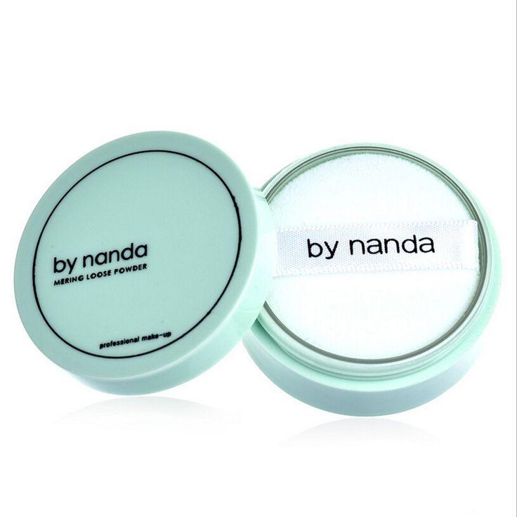 Caliente Por nanda Translúcido Polvo Presionado con Soplo Suave Rostro Base de Maquillaje Resistente Al Agua Polvo Suelto Polvo de La Piel 3 Colores