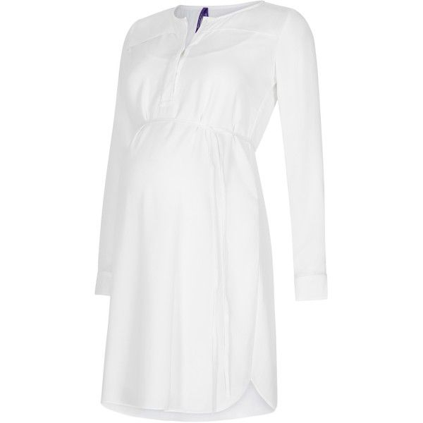 Séraphine Judith Maternity Shirt Dress (620 SEK) ❤ liked on Polyvore featuring maternity