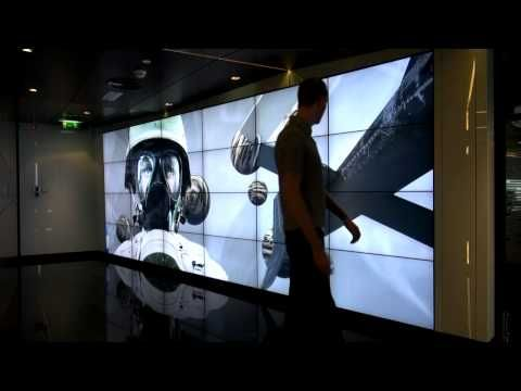 World's largest Kinect driven interactive video wall - YouTube