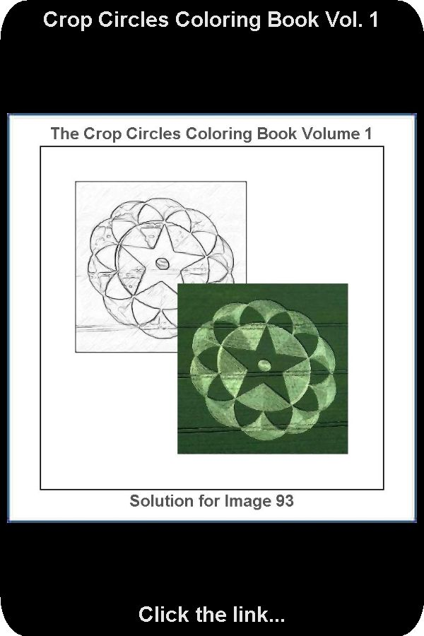 Solution For Drawing Number 93 Of 100 From The Crop Circles Coloring Book Vol 1 Now You Can Spend Time Coloring The In 2020 Circle Drawing Coloring Books Crop Circles