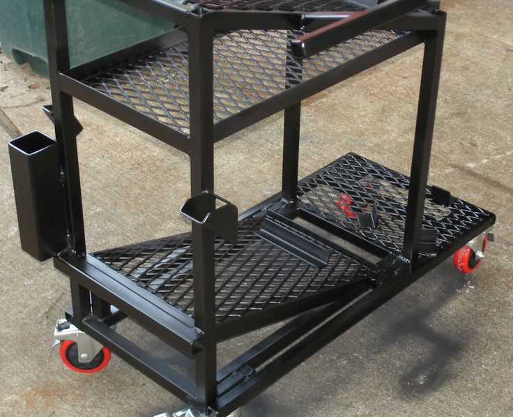 free welding plans | He finished the cart with two coats of primer, two coats of black ...