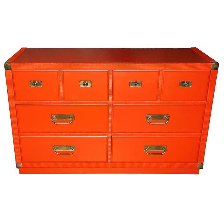 Add A Splash Of Color With This Mid Century Red Drexel Dresser.