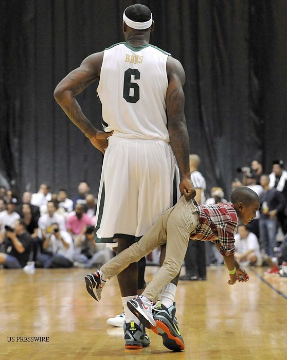 LeBron James babysitting... this is definitely what I would picture.. no surprise..