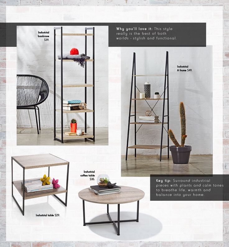 Stylish & Functional! Why you'll love the Industrial look!