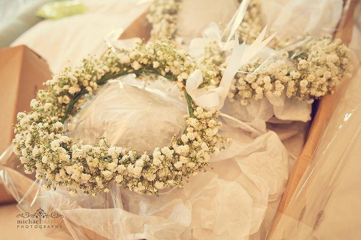 White floral bridal crowns