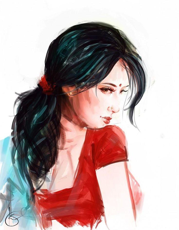 :) Shy - Digital Art by Kiran Kumar in Digital Paintings at touchtalent 47608