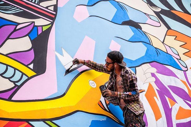 BICICLETA SEM FREIO LONDON DEBUT http://www.widewalls.ch/bicicleta-sem-freio-london-debut-fera-rexromae-justkids-2015/ #streetart #graffiti #urbanart