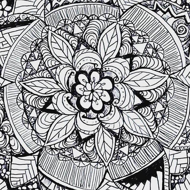 Justartinspiration Mandala Flower Art Artistic Nation Artoftheday