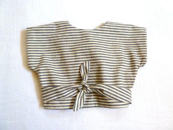 Organic Hemp & Cotton Striped Wrap Top