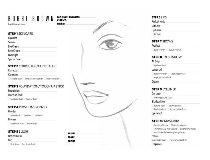 Bobbi Brown Face Chart